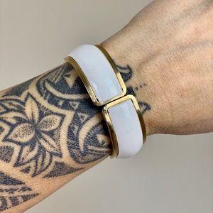 Vintage Enamel Hinged Cuff Bracelet